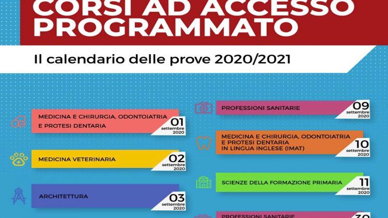 MIUR: Università, pubblicato il calendario dei test per i corsi ad accesso programmato. Si parte l'1 settembre 2020