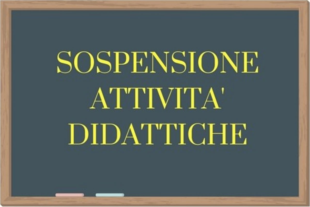 CORONAVIRUS: SOSPENSIONE DELLA DIDATTICA FINO AL 3 APRILE